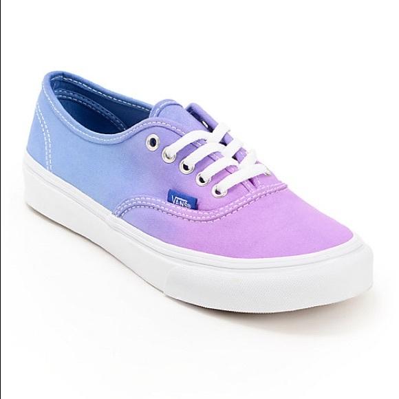Nwot Vans Purple To Blue Ombr Sneakers
